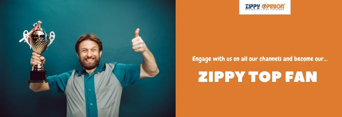 Zippy Opinion, man lifting a trophy, Zippy Top Fan